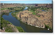 The Snake River Canyon Idaho Acrylic Print by Michael Rogers
