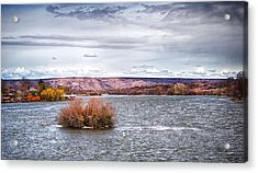 The Snake River Near Hagerman Idaho Acrylic Print by Michael Rogers