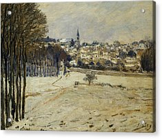 The Snow At Marly-le-roi Acrylic Print by Alfred Sisley