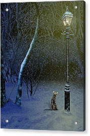 The Snow Cat Acrylic Print