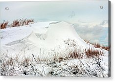 The Snow Dunes Acrylic Print