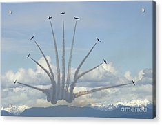 The Snowbirds In High Gear Acrylic Print by Bob Christopher