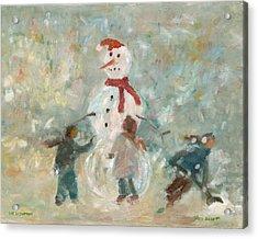 The Snowman Acrylic Print