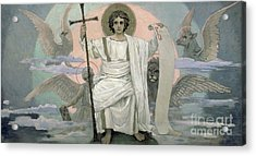 The Son Of God   The Word Of God Acrylic Print by Victor Mikhailovich Vasnetsov