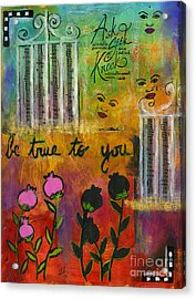 The Song Of My Own Belief Acrylic Print by Angela L Walker