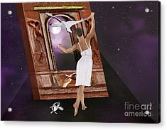 The Song Of The Swan Acrylic Print by Sydne Archambault