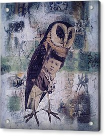 The Soul Of An Owl  Acrylic Print by Susan McCarrell