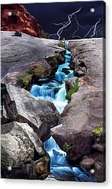 The Source Acrylic Print by Ric Soulen