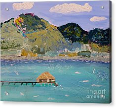 Acrylic Print featuring the painting The South Seas by Phyllis Kaltenbach