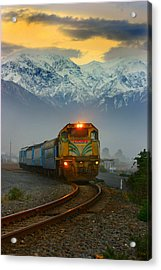 The Southerner Train New Zealand Acrylic Print
