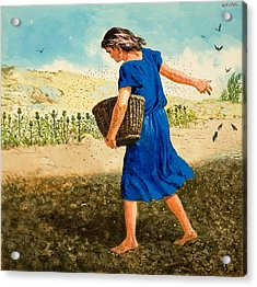The Sower Of The Seed Acrylic Print by Clive Uptton