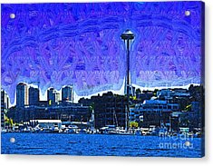 The Space Needle From Lake Union Acrylic Print