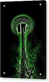 The Space Needle In The Emerald City II Acrylic Print by David Patterson