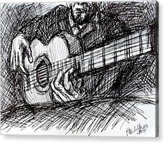 The Spanish Guitarist Acrylic Print