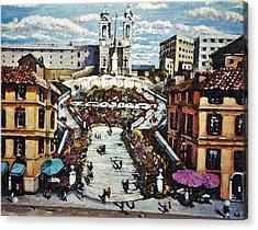 The Spanish Steps Acrylic Print by Rita Brown
