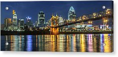 The Sparkle Of The Queen City Acrylic Print