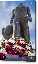 The Spartan With Roses 2 Acrylic Print