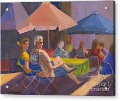 The Spectators Acrylic Print by Sandy Linden