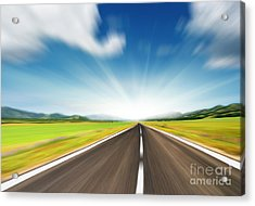 The Speed Acrylic Print by Boon Mee
