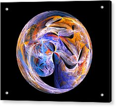 Acrylic Print featuring the digital art The Spirit At Creation by R Thomas Brass