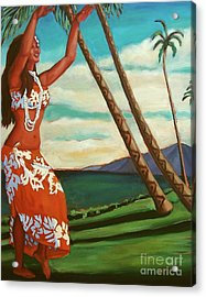 Acrylic Print featuring the painting The Spirit Of Hula by Janet McDonald