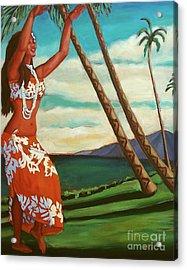 The Spirit Of Hula Acrylic Print