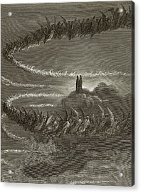 The Spirits In Jupiter Acrylic Print by Gustave Dore