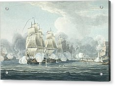 The Squadron Under Command Of Sir F.t Acrylic Print by Thomas Whitcombe