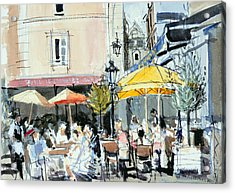 The Square At St. Malo Acrylic Print by Felicity House