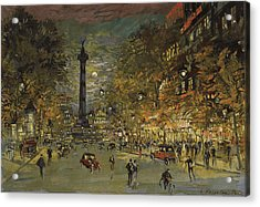 The Square Of Bastille. Paris Acrylic Print by Konstantin Korovin