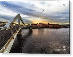 The Squiggly Bridge Acrylic Print by John Farnan