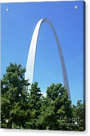Acrylic Print featuring the photograph The St. Louis Arch by Kelly Awad