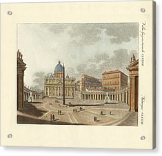 The St. Peter's Cathedral In Rome Acrylic Print by Splendid Art Prints