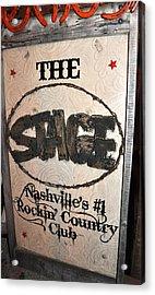 The Stage Nashville Acrylic Print by Toni Ryder