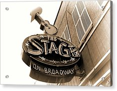 The Stage On Broadway Nashville Tennessee Acrylic Print