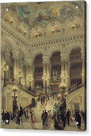 The Staircase Of The Opera Acrylic Print