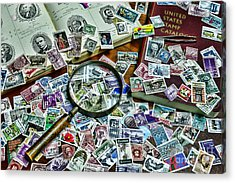 The Stamp Collector Acrylic Print by Paul Ward
