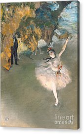 The Star Or Dancer On The Stage Acrylic Print by Edgar Degas
