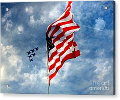 The Star Spangled Banner Yet Waves Acrylic Print