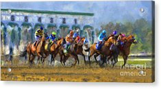 The Starting Gate Acrylic Print by Andrea Auletta