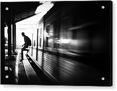 @the Station: Rush Arrival Acrylic Print