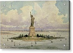The Statue Of Liberty  Acrylic Print by Frederic Auguste Bartholdi