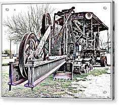 The Steam Shovel Acrylic Print by Glenn McCarthy Art and Photography