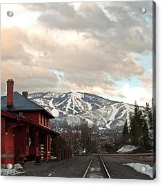 The Steamboat Depot Acrylic Print by Daniel Hebard