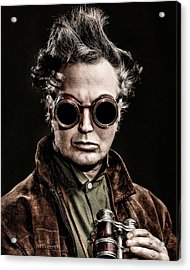 The Steampunk - Sci-fi Acrylic Print by Gary Heller