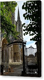 The Steeple And The Gate Acrylic Print by Olivier Le Queinec