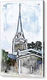 Acrylic Print featuring the digital art The Steeple by Davina Washington