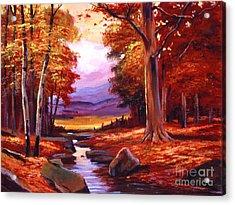 The Stillness Of Autumn Acrylic Print by David Lloyd Glover