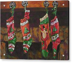 The Stockings Acrylic Print by Gloria  Nilsson