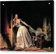 The Stolen Kiss Acrylic Print by Jean-Honore Fragonard